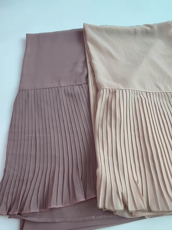 Big Size 185cm*75cm New Patchwork Popular bubble chiffon Scarf Wrinkle hijab Pleat Scarf stitching Muffler muslim scarves/scarf