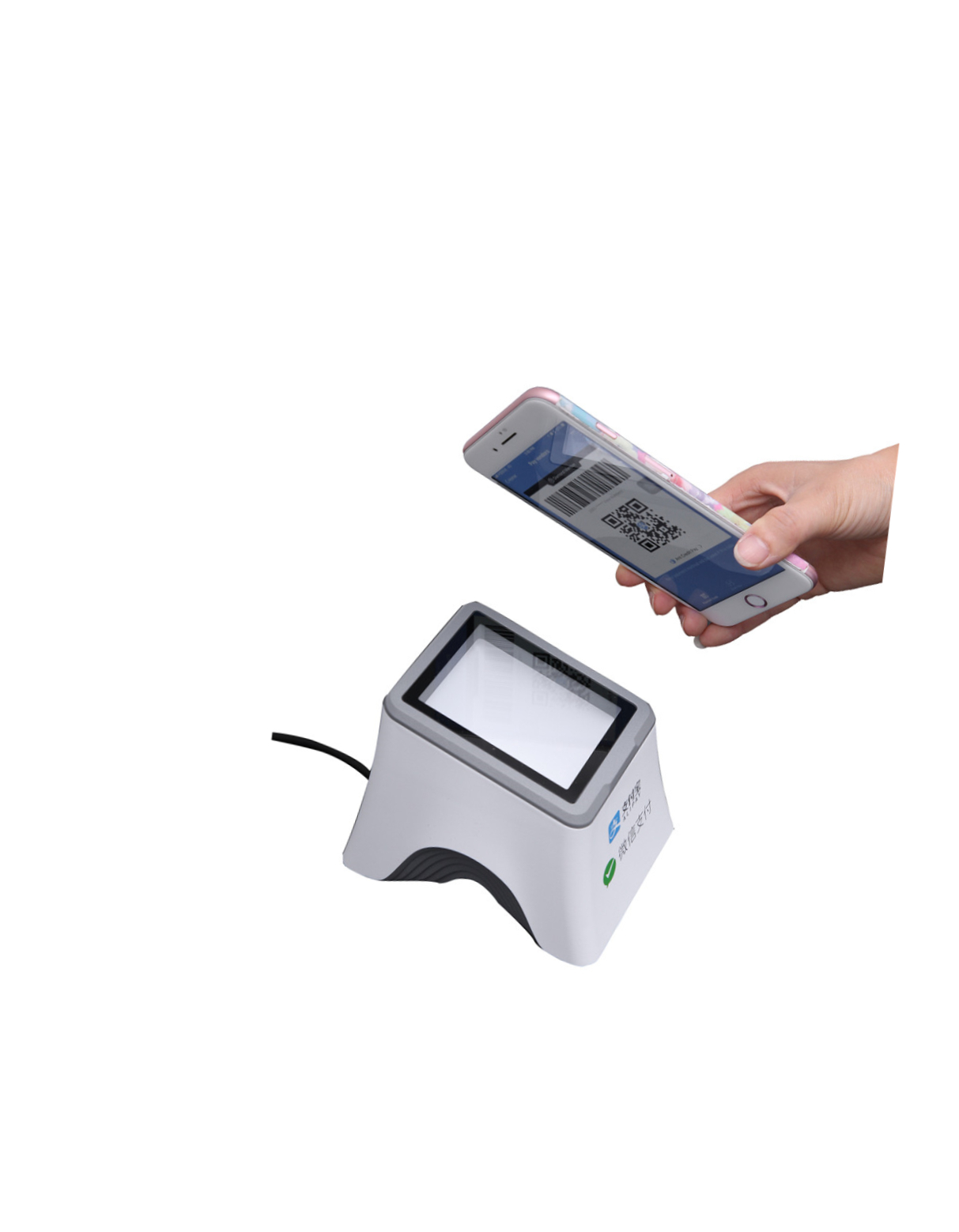 Multifunction qr code reader rs232 barcode reader usb