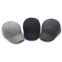 Custom hot selling fashion unisex outdoor winter warm cap wool baseball hat