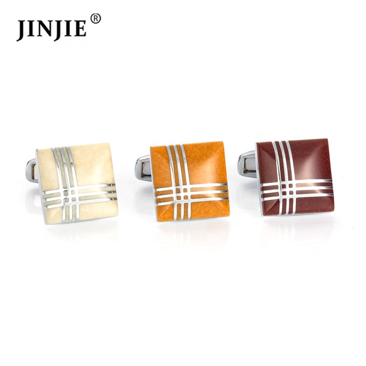 China cheap <strong>custom</strong> silver enamel square line <strong>engraved</strong> <strong>cufflinks</strong> for men