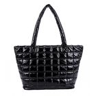 fashion quilted women shoulder bag down feather tote bag