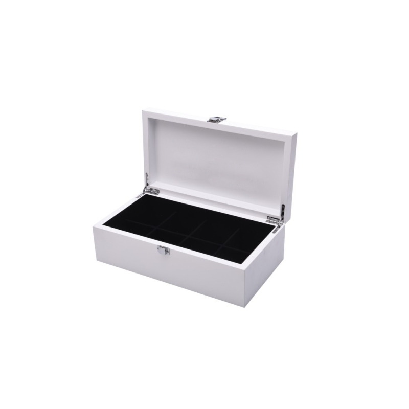 White wooden tea box different styles wooden gift box