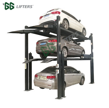 3 levels car stacker triple stack parking solutions
