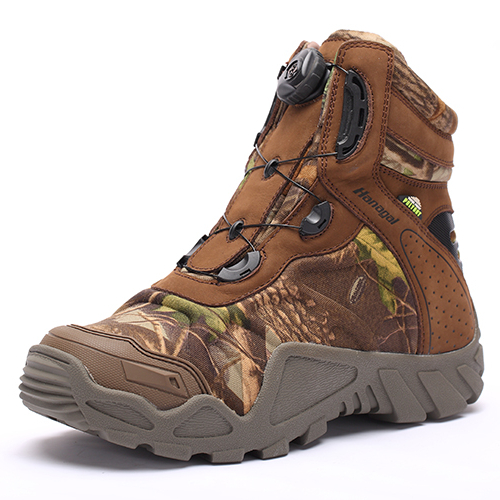Lightweight Waterproof  Nubuck Leather with Camo fabric Non Slip Rubber Outsole BOA Fast Lacing Army Jungle Boots