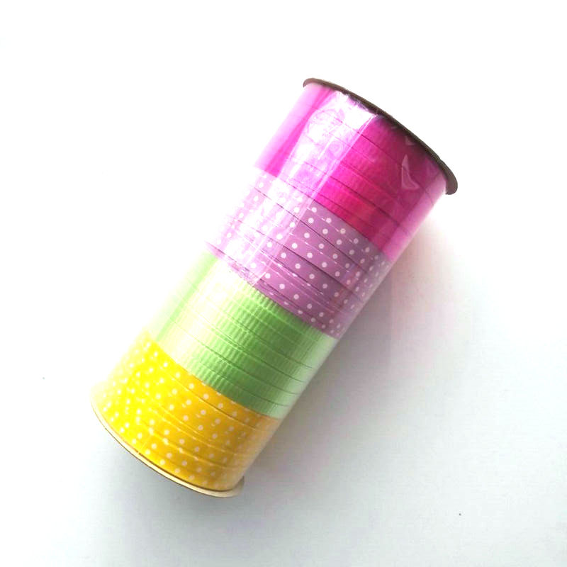 Easter Gift Wrapping Decorative Personalized Solid Plain Poly Curling Ribbon Spool 5mm X 100m