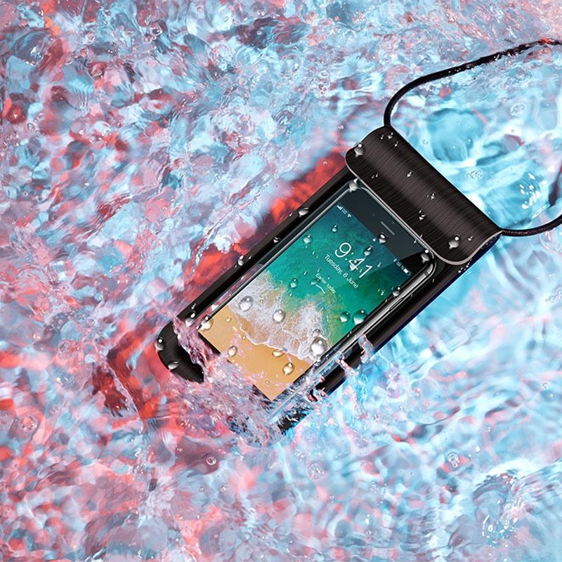 2020 אוניברסלי מים הוכחת PVC ברור מקרי טלפון נייד שקית מים הוכחת טלפון סלולרי תיק עם שרוך
