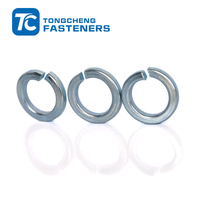 carbon steel zinc plated din128 spring lock washer