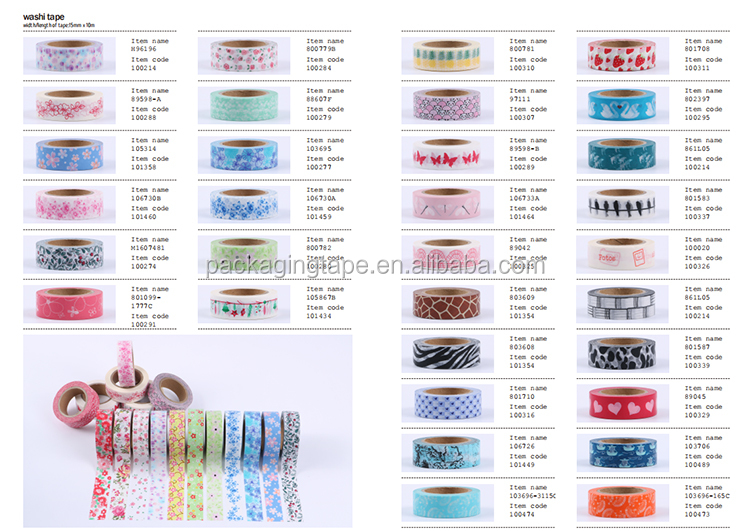 Wholesale decorating cool design custom christmas masking tape