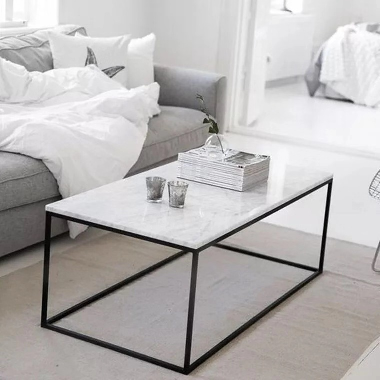 SWT New Livingroom Furniture Open Box Marble Modern Coffee <strong>Table</strong>