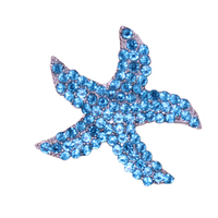 New Arrival Trendy Fashion Full Crystal Rhinestone Metal Starfish Button Shoe Buckle Charm Pendants