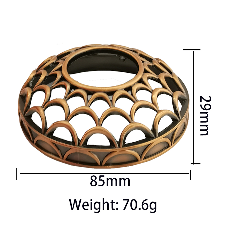 Wholesale customized high-quality holiday parties Bronze Scallop Metal Candle jar lids