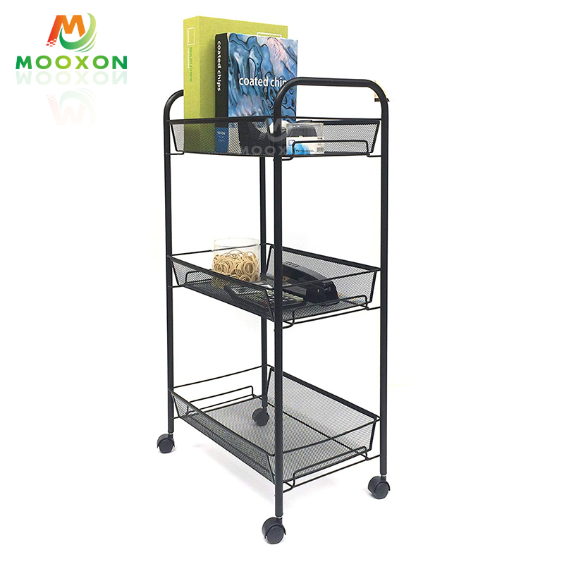 3 Tier <strong>Carbon</strong> <strong>Steel</strong> Household Kitchen Rack Trolley Cart Home Storage And <strong>Holder</strong>