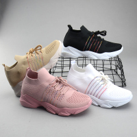 breathable mesh sport women shoes knit shoes 2019sports shoeschaussure femmewomens sneakers