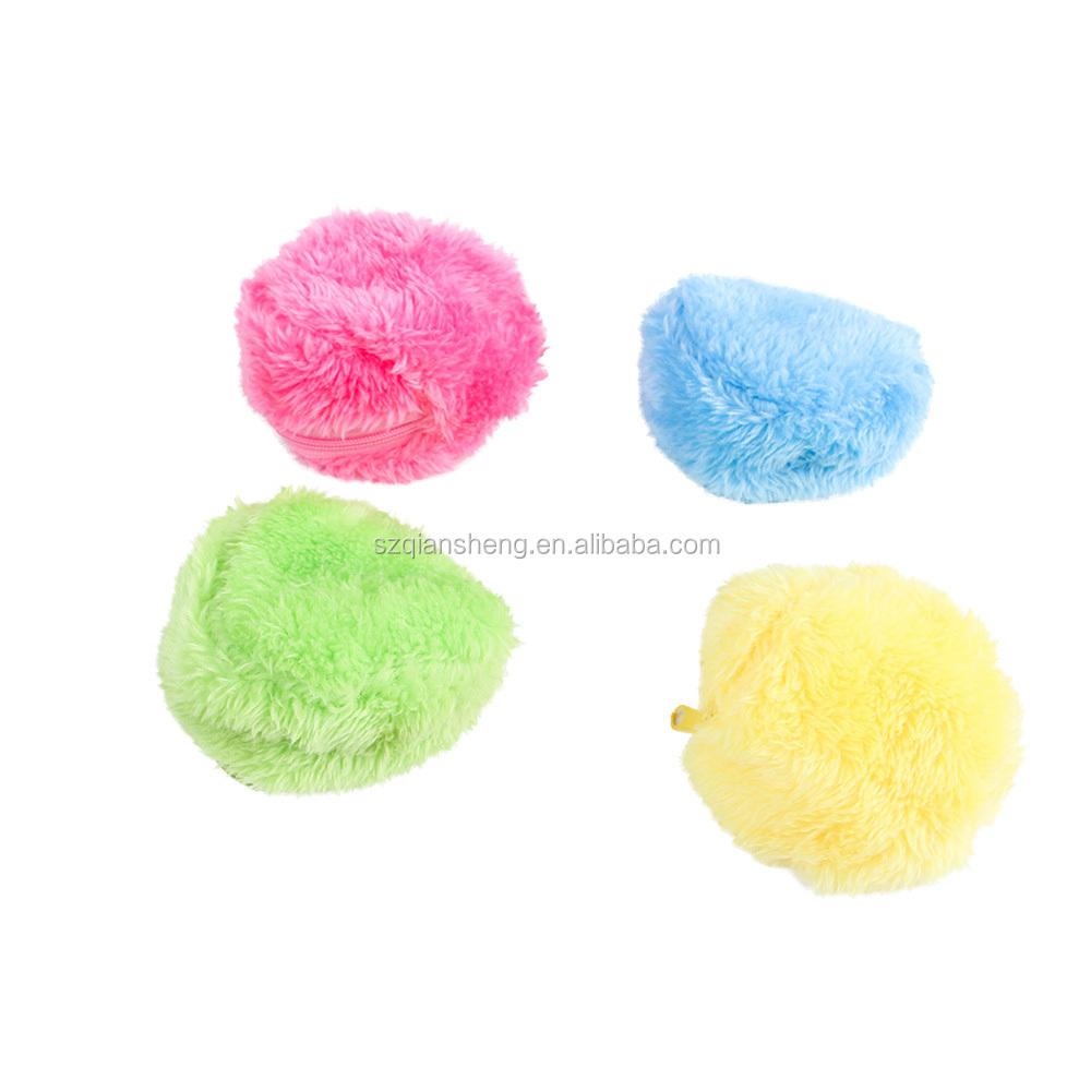 Wholesale Eco-Friendly Funny Magic Roller Ball Dog Cat Toy Activation Automatic Ball Chew pet Plush Floor Clean Toys