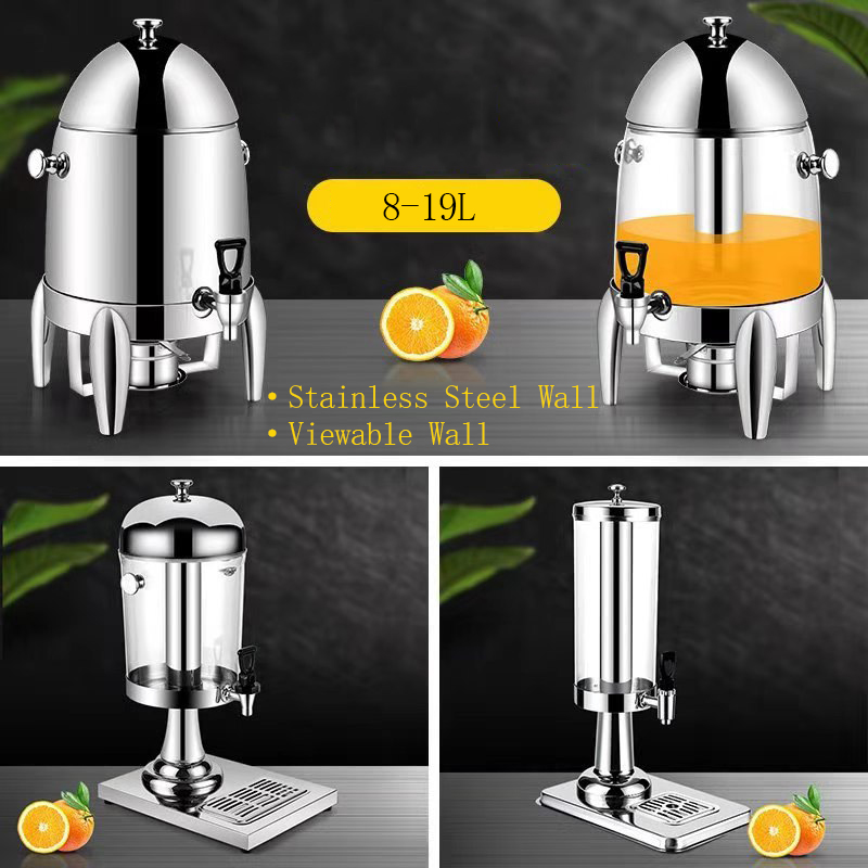 Hotel Buffet Rvs Koude Drank Fruit Glas Plastic Oranje Drinken Sap Dispenser Machine Koeler