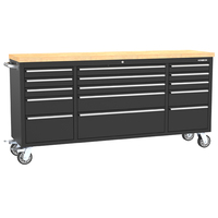 RTS-Kinbox 72 inch US General Tool Box with 15 Drawer Stainless Steel tool trolley