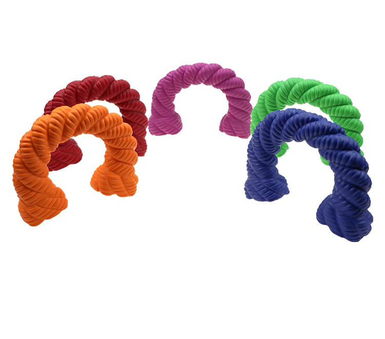 Free sample horseshoe shape chewing toy pet dog toy cleaning teeth accompanying play