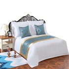 80% cotton 20% polyester cheap white hotel bed sheet set