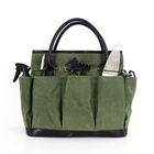 Custom portable waterproof waxed canvas garden tool storage Tote bag