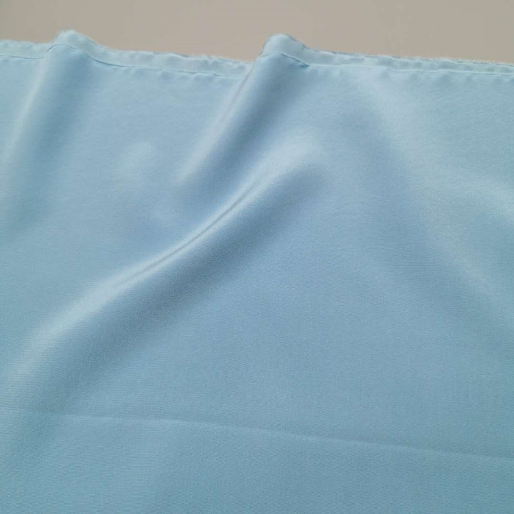 Hot sale organic sand washed and solid dyed crepe de chine 100% silk crepe fabric for sleepwear skirt blouse