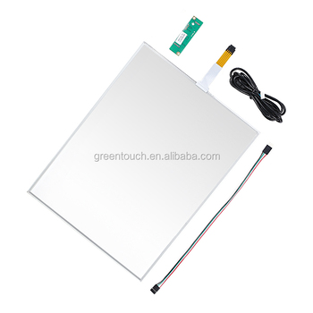 GT-5W-15A-1 5wire touch glass 15inch Resistive touch screen panel EETI USB/RS232 kits