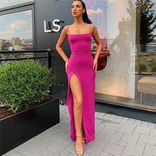 Женское платье с разрезом на спине, черное элегантное облегающее платье, облегающее дамское платье 2020, летние вечерние длинные платья, пика...(Китай)