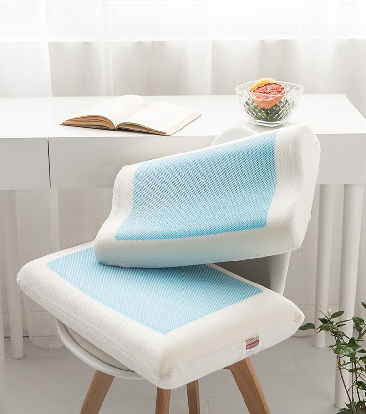 卸売環境にやさしい b 波冷却ジェル低反発枕輪郭ネック枕
