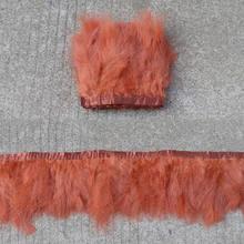 2 ярдов/партия, белая пушистая отделка перьями марабу, высота 6-8 дюймов, перья, лента для шитья одежды, свадебное платье, украшение(China)