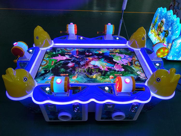 Hotselling 6 व्यक्तियों इलेक्ट्रॉनिक बच्चों बिक्री के लिए मछली पकड़ने के खेल मशीन