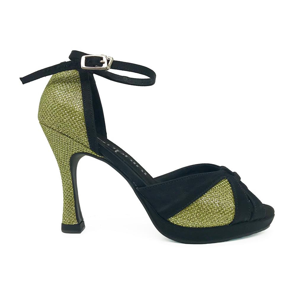 Suphini New Arrivals gold glitter 10cm heel with platform wedding party bridal high heel latin salsa ballroom dance shoes