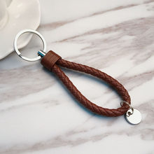 Креативный чистый ручной кожаный веревочный брелок для мужчин и женщин, пара автомобильных ключей, брелок, игрушка, украшения, аксессуары(Китай)