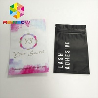 Custom plastic bag printer for pill pouches eyelash glue packaging laminated aluminum sachet bags