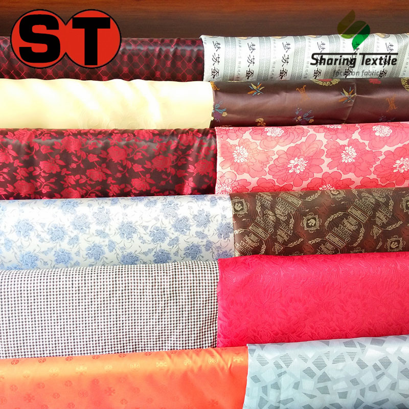 Factory 55% Poly 45% Rayon Dobby Jacquard Tr Polyester Rayon Viscose  Poly And Rayon Jacket Suit Dobby Pattern Lining Fabric