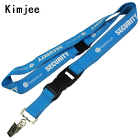 High Quality thick lanyards with Bulldog Clips Breakaway Custom Silkscreen Printing Logo Polyester Airbus Lanyards for Phone