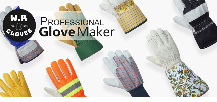Wholesale custom top pigskin leather winter warm hand protection working driving gloves