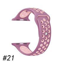 Силиконовый ремешок для часов apple watch, 44 мм/40 мм, iWatch band 38 мм 42 мм 44 мм, спортивный ремешок для часов apple watch 5 4 3 2 1(Китай)