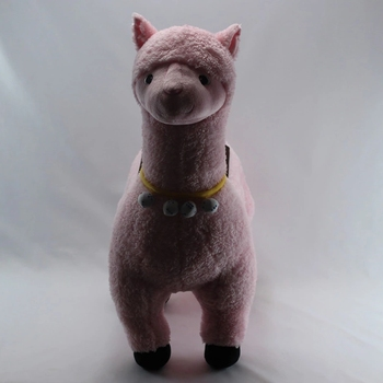 small organic cotton pink real alpaca fur lifelike soft personalised cute online stuffed animal