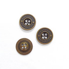 Fancy design custom cloth alloy 4 hole sewing shirt button metal buttons