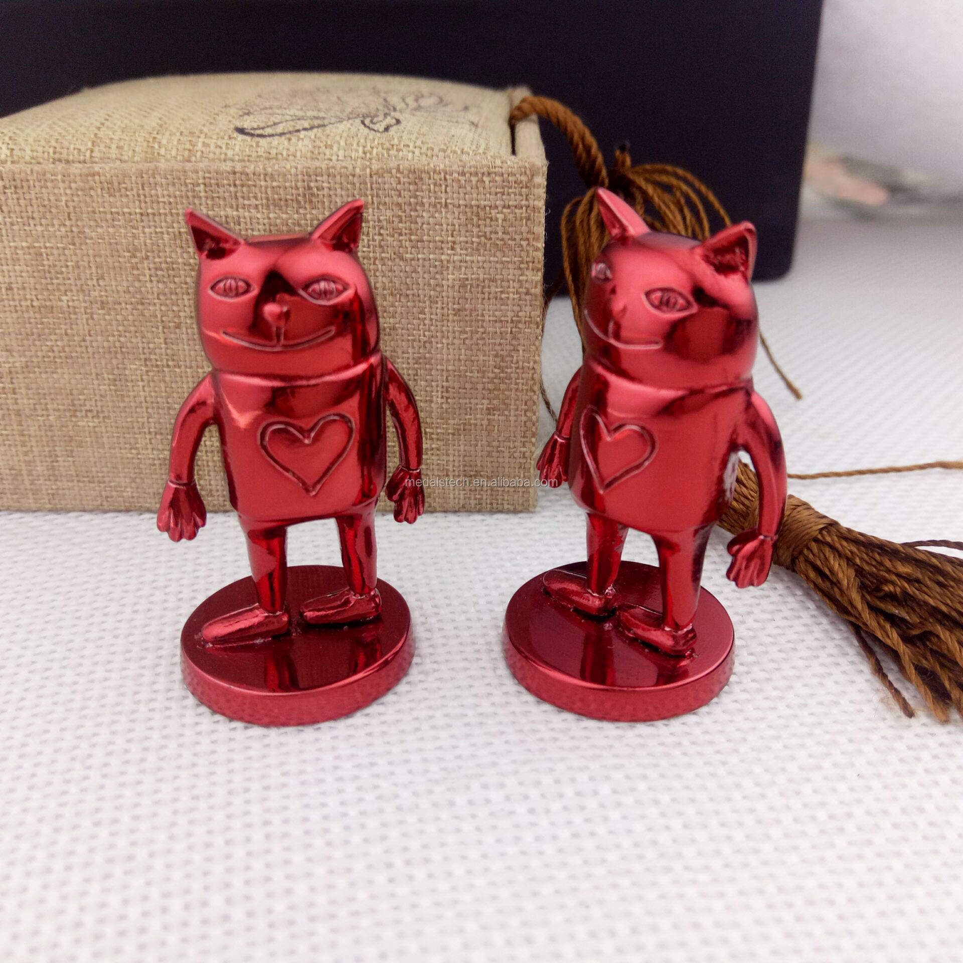 Custom high quality color plating 3d metal miniature figures for games and movies character