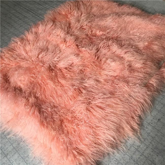 Grey bed Mongolian fur Tibetan sheepskin blanket