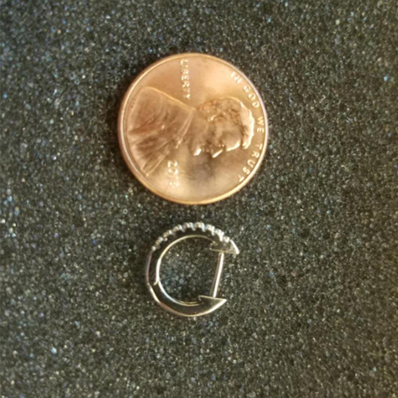 Mode Perle Gold Edelstahl Ohrring Diamant Set Silber Schmuck Ohrring Kristall Mini Huggie Kreuz Hoop Frauen Ohrring