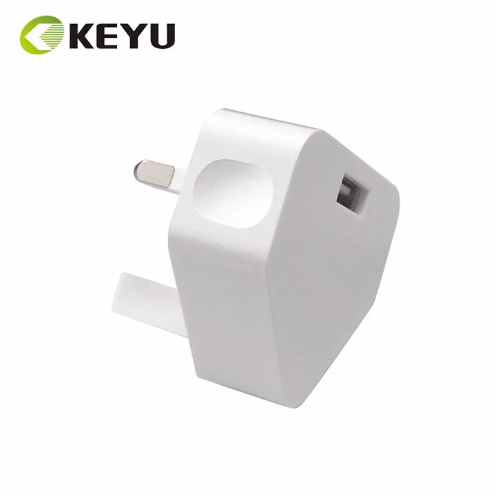 Keselamatan CE Mark 5W 5 V 1A Ac Dc Adapter Usb Dinding Charger dengan 3 Pin UK Plug