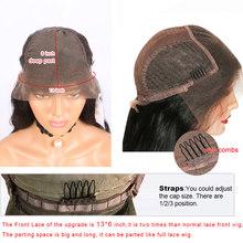 Афро кудрявые 13х6 кружевные передние Preplcuked Remy человеческие волосы парики для африканских американских женщин 180 Плотность полные кружевные...(Китай)