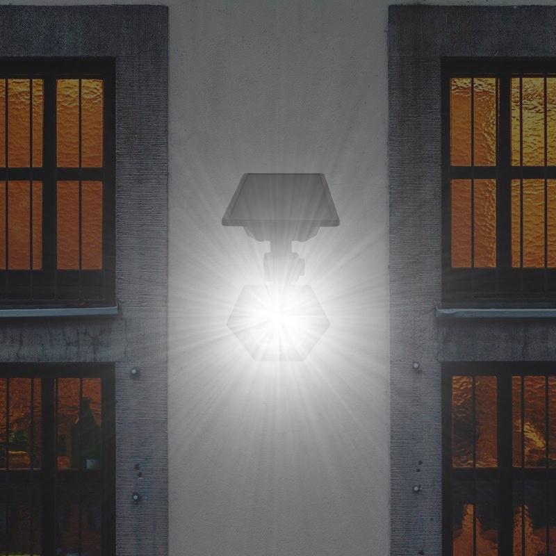 Durable working time Outdoor lighting Motion Sensor wall mounted solar power led light garden