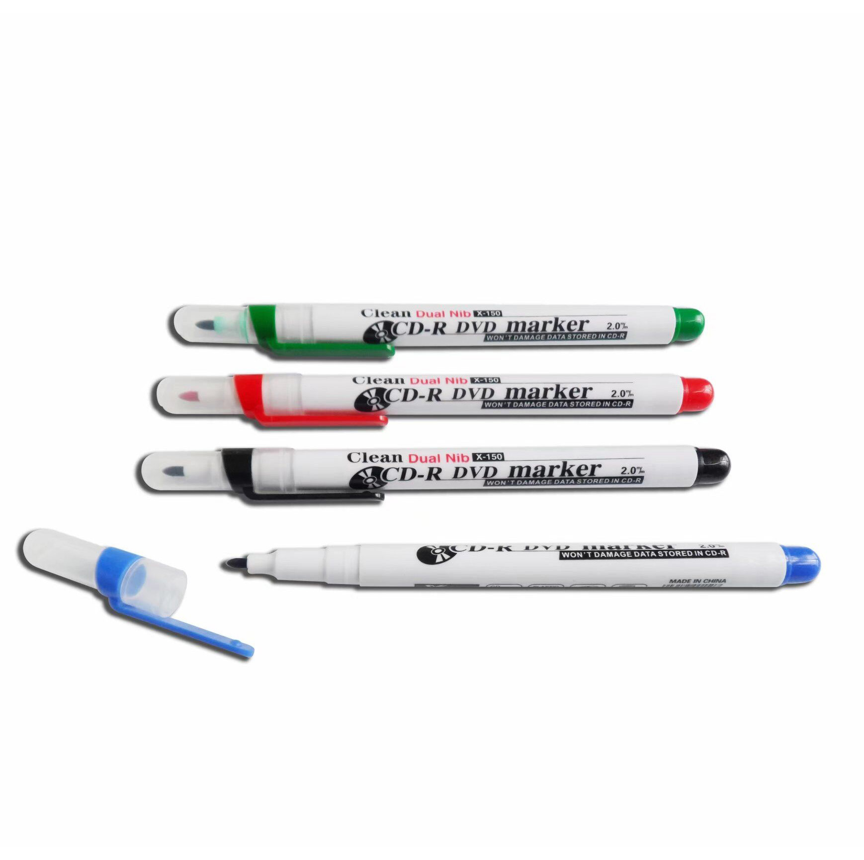 fu8ll color printed office small felt tip permanent marker