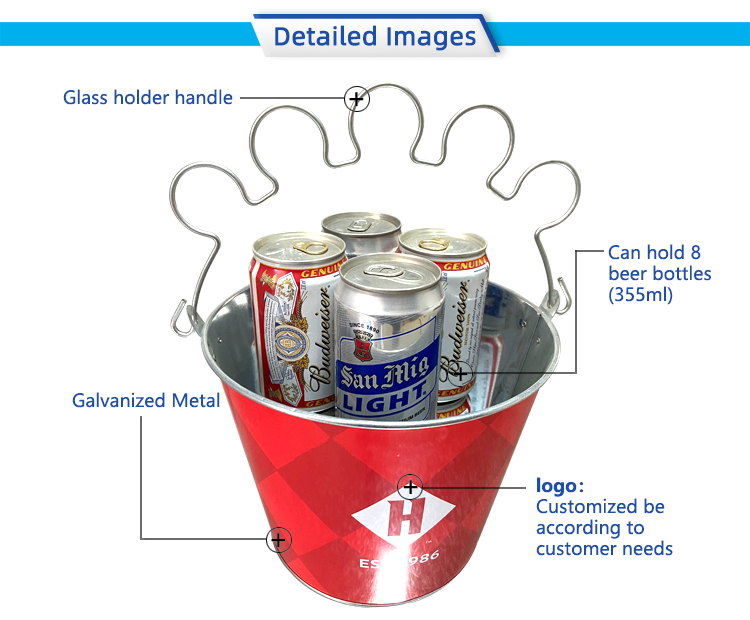 promotional fancy round colorful printed metal barrel