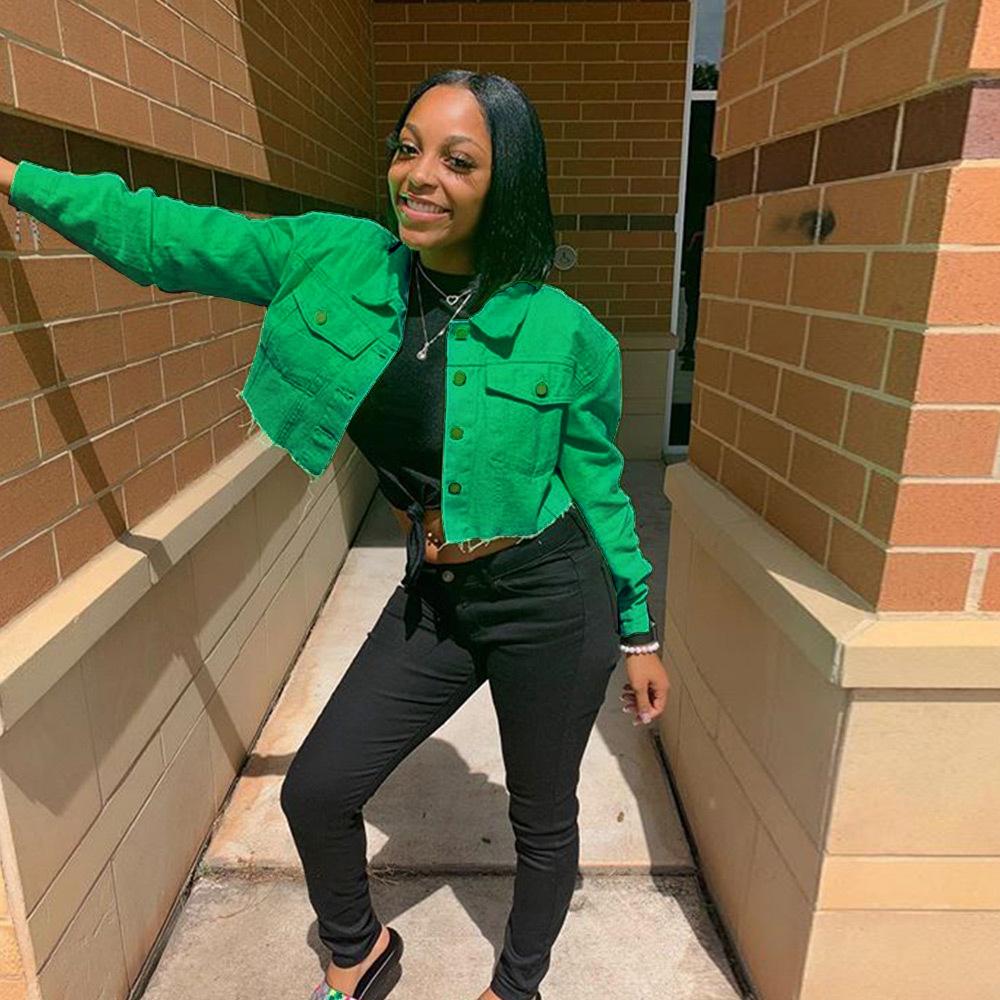 MXN 2020 Fall fashion clothing women denim jacket button short design jean jackets for ladies