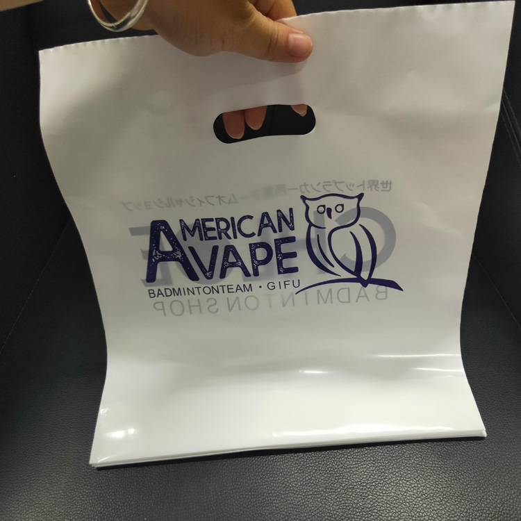 Ldpe Die Cut Handle Personalized Custom Color Logo Printed Plastic Shopping Carrier Bags with flat bottom