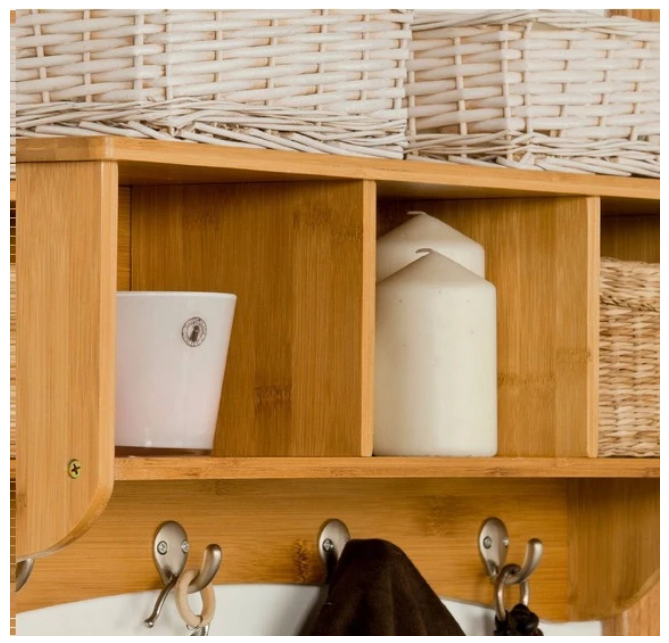 Bamboo Storage Shelf With 4 Pcs Clothes Hanger MSL-108 Details 9