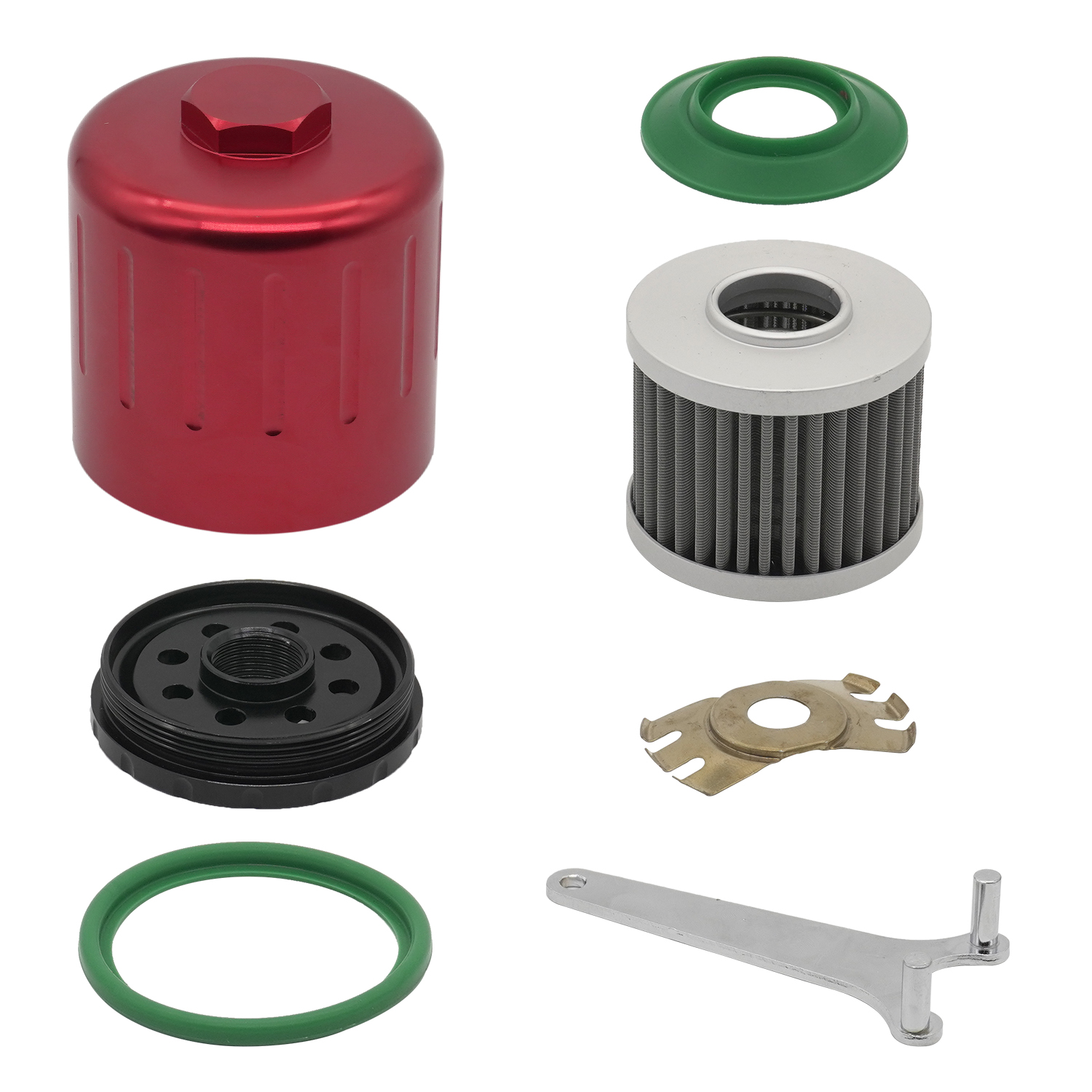 Oil Filter 15400 Oil Filters 304 Stainless Steel Filter Washable Reusable M20x1.5 15400-RAF-T01 15400-PLC-004